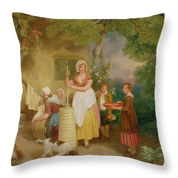 Morning Throw Pillow by Francis Wheatley