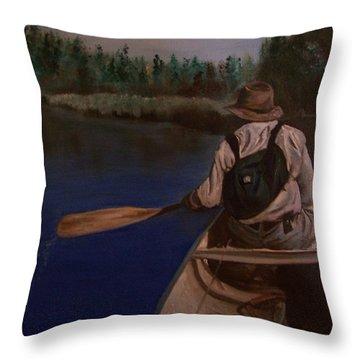 New Discovery Throw Pillow by Joyce Reid
