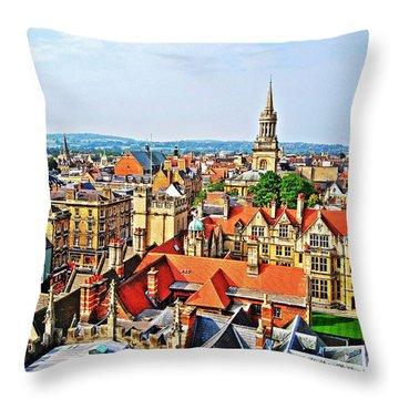 Oxford Cityscape Throw Pillow