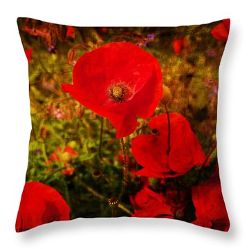 Throw Pillow featuring the photograph  Poppies by Beverly Cash