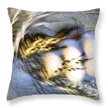 Promise Me Spring Will Come - Abstract Art Throw Pillow