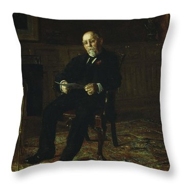 Robert M. Lindsay Throw Pillow by Thomas Cowperthwait Eakins