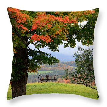 Throw Pillow featuring the photograph  Scenic New England In Autumn by Karen Lee Ensley