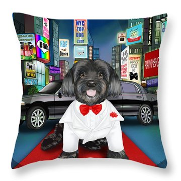 Sir Cuba Of Chelsea In Times Square Nyc Throw Pillow