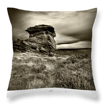 Throw Pillow featuring the photograph  Stone Guardian by Beverly Cash