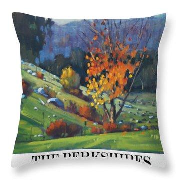 The Berkshires Throw Pillow by Len Stomski