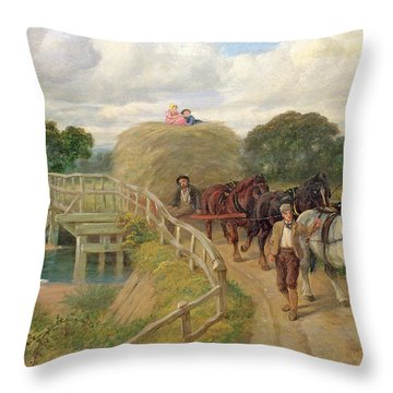 The Last Load  Throw Pillow by Philip Richard Morris