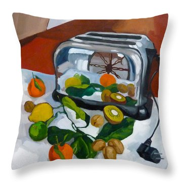 The Toaster Throw Pillow by Carmen Stanescu Kutzelnig