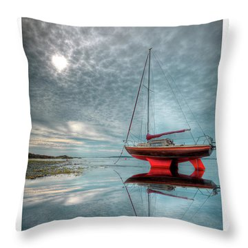 Throw Pillow featuring the photograph  Waiting For The Tide by Beverly Cash