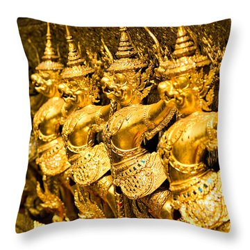 Throw Pillow featuring the photograph  Wat Phra Kaeo by Luciano Mortula