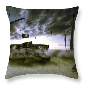 Who's Watching Who. Throw Pillow