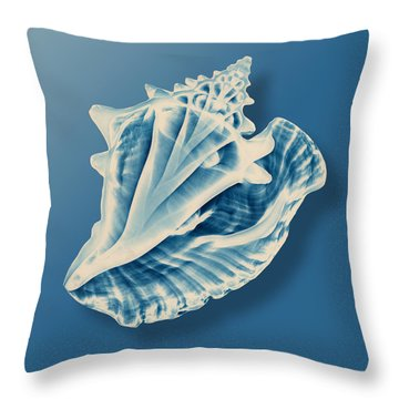 X-ray Of A Conch Shell Throw Pillow by Mark Greenberg