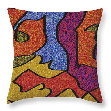 0664 Abstract Thought Throw Pillow by Chowdary V Arikatla