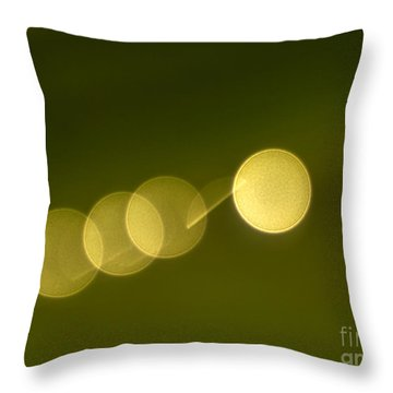 Abstract Lights Throw Pillow by Odon Czintos
