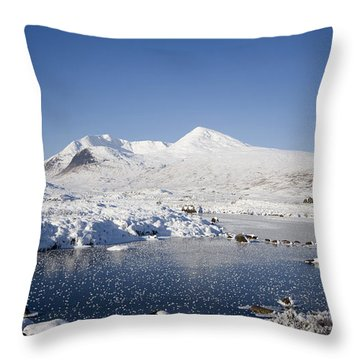 Rannoch Moor Throw Pillow by Pat Speirs