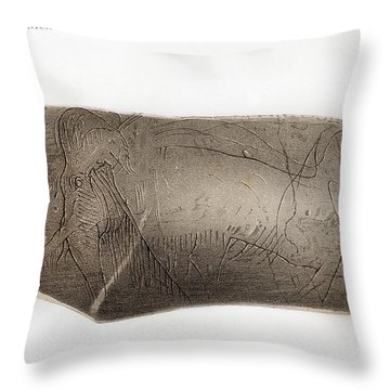 European Ivory Carving Throw Pillows