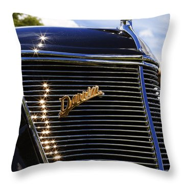 Throw Pillow featuring the photograph 1937 Ford Model 78 Cabriolet Convertible By Darrin by Gordon Dean II
