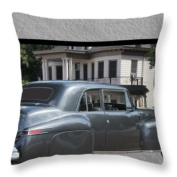 1947 Lincoln Continental Coupe Throw Pillow