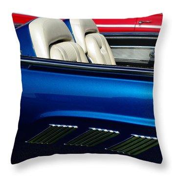 1963 Thunderbird Convertible Throw Pillow by Peter Piatt