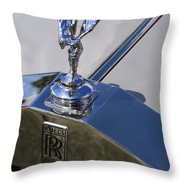 Throw Pillow featuring the photograph 1965 Rolls Royce Silver Cloud IIi Mpw Coupe by Gordon Dean II