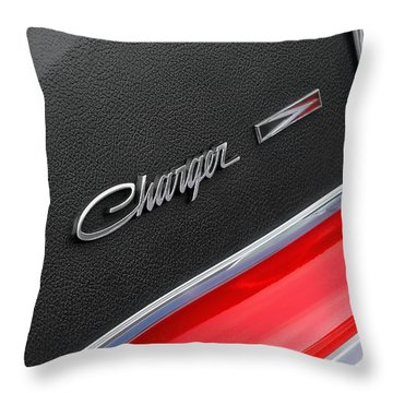 1967 Dodge Charger Throw Pillow by Gordon Dean II