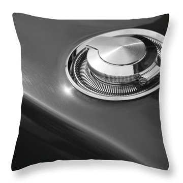 Throw Pillow featuring the photograph 1968 Dodge Charger Fuel Cap by Gordon Dean II
