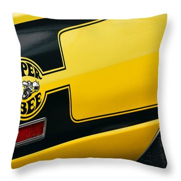 Throw Pillow featuring the photograph 1970 Dodge Coronet Super Bee by Gordon Dean II