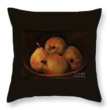 4 Pears Throw Pillow