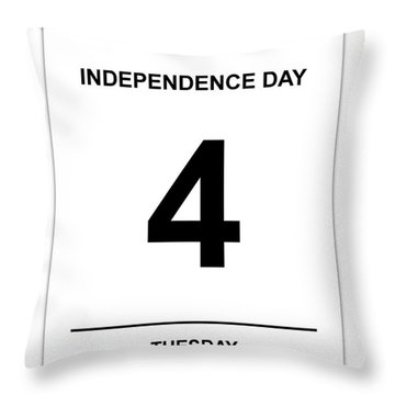 4th July Throw Pillow by Henrik Lehnerer