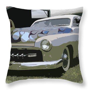 50 Merc Throw Pillow by Steve McKinzie
