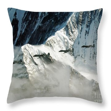 A-10 Thunderbolt IIs Fly Throw Pillow by Stocktrek Images