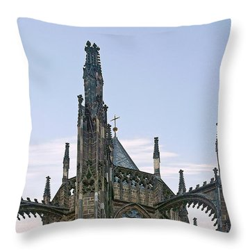 A Forest Of Spires - St Vitus Cathedral Prague Throw Pillow by Christine Till