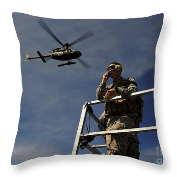 A Joint Terminal Attack Controller Throw Pillow by Stocktrek Images