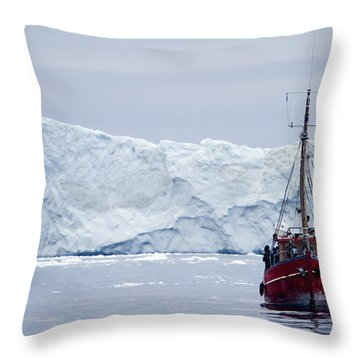 A Midnight Cruise Around The Ilulissat Throw Pillow by Axiom Photographic