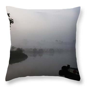 A Nice Place Throw Pillow by Linsey Williams