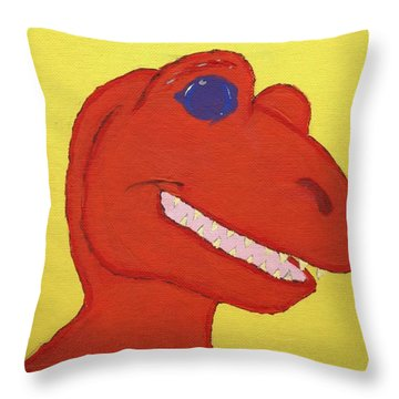 A Saurus Wrex Throw Pillow