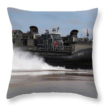 A U.s. Navy Landing Craft Air Cushion Throw Pillow by Stocktrek Images
