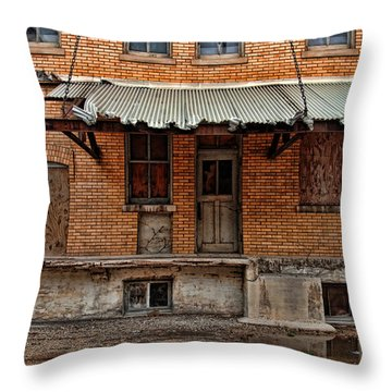 Abandoned Warehouse Throw Pillow by Jill Battaglia