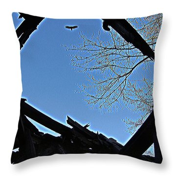 Above It Throw Pillow