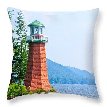 Adirondack Lighthouse Throw Pillow