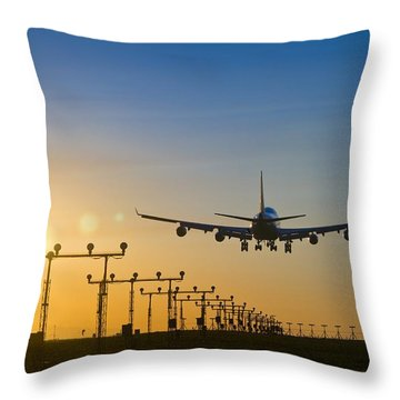 Vancouver International Airport Throw Pillows