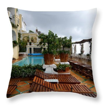Throw Pillow featuring the photograph After The Rain. Positano  2 by Tanya  Searcy