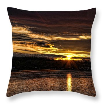 Throw Pillow featuring the photograph After The Storm by Rick Friedle