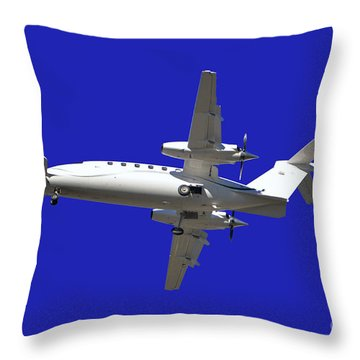 Airplane Throw Pillow by Mats Silvan