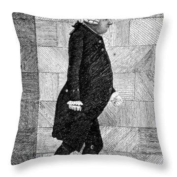 Alexander Monro II, Scottish Anatomist Throw Pillow by Science Source