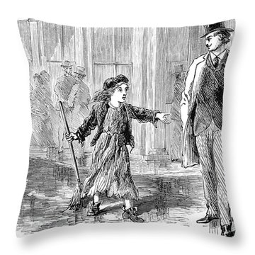 Alger: Tattered Tom Throw Pillow by Granger