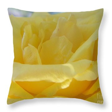 All In Yellow Throw Pillow by Yumi Johnson
