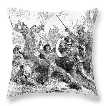 Alonso De Ojeda (1465?-1515) Throw Pillow by Granger