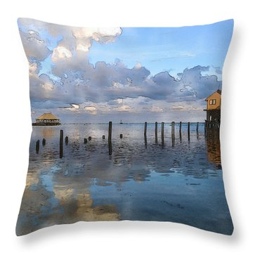 Ambergris Caye Belize Throw Pillow
