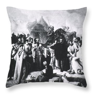Ambroise Par�, French Surgeon, Pioneer Throw Pillow by Science Source